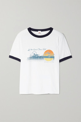 RE/DONE + Hanes Printed Cotton-jersey T-shirt