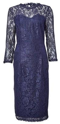 Dorothy Perkins Womens **Tall Navy Lace Long Sleeve Dress