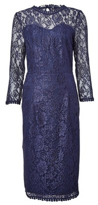 Dorothy Perkins Womens Tall Navy Lace Long Sleeve Dress
