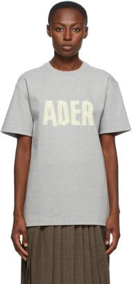 Ader Error Grey Logo Masking T-Shirt