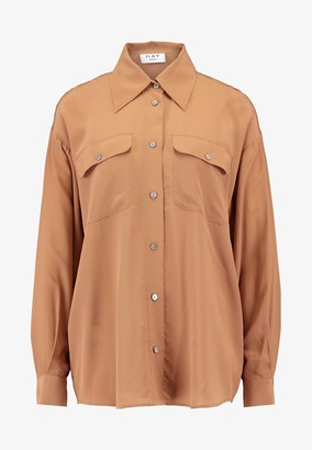 DAY Birger et Mikkelsen Fan Silk Shirt - Brown / 8