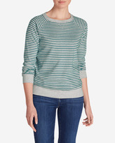 Eddie Bauer Women's Legend Wash Crewneck Sweatshirt - Stripe
