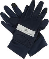 adidas by Stella McCartney Perforated jersey run gloves