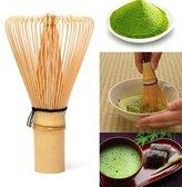 D&B Kitchen Tools New Matcha Whisk Japanese Ceremony Bamboo 64 Matcha Tea Powder Whisk Green Tea Chasen Brush for Preparing Matcha Powder Tool