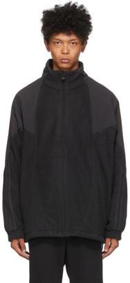 adidas Black Polar Fleece Big Trefoil Jacket