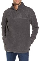 NATIVE YOUTH Men's Warlock Faux Shearling Quarter Zip Sweater