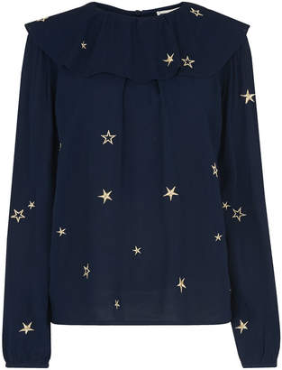 Whistles Star Embroidered Blouse