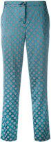 Etro circles print cropped trousers - women - Polyamide/Spandex/Elastane/Viscose - 42