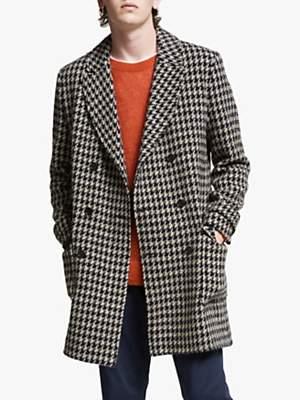 Wax London RoS Overcoat, Tiff Houndstooth