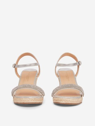 Dorothy Perkins Raaraa Embellished Wedge Sandals - Grey