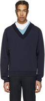 Maison Margiela Navy Layered Collar Pullover