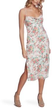 1 STATE Bouquet Printed Midi Dress