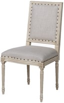 The Well Appointed House Prytania French Side Chair with Linen Upholstery