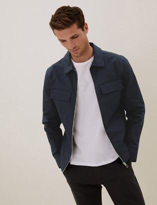 Marks and Spencer Cotton Harrington Jacket with Stormwear