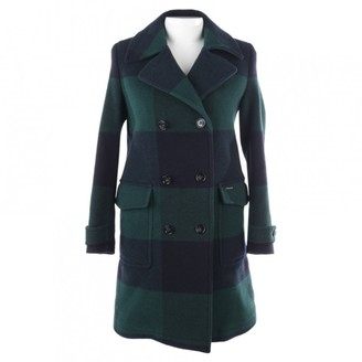 Woolrich Green Wool Coat for Women