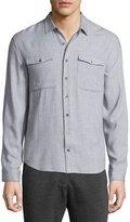 ATM Anthony Thomas Melillo Utility-Pocket Long-Sleeve Shirt, Light Gray