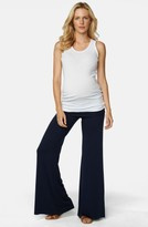 Maternal America Women's Knit Flare Leg Maternity Pants