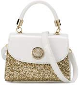 Versace glitter panel shoulder bag