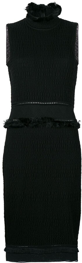 John Galliano Pre-Owned fringed fitted dress
