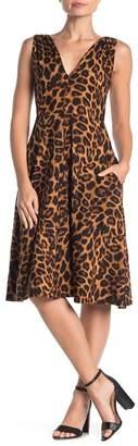 Socialite Jersey V-Neck Fit & Flare Dress