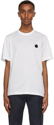 Moncler White and Black Logo T-Shirt
