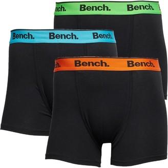 Bench Mens Barnes Three Pack Boxer Trunks Black/Multi