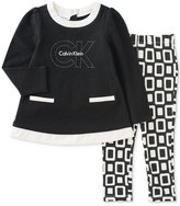 Calvin Klein 2-Pc. Tunic & Geo-Print Leggings Set, Baby Girls (0-24 months)