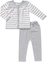 Angel Dear Cardigan & Pant (Baby)-Gray-0-3 Months