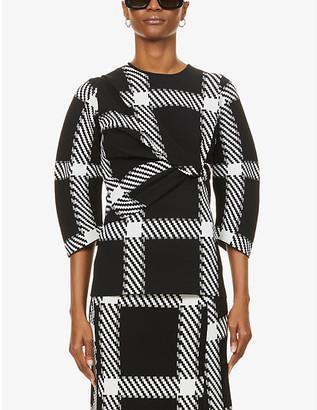 Stella McCartney Lumberjack-print stretch-knit top