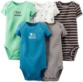 Carter's Baby Boys' 5 Pack Monster Bodysuits (Baby) - 6M