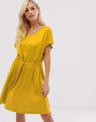 French Connection Ravenna drawstring dress-Yellow