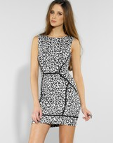 Panelled Leopard Shift Dress