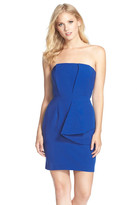 Adelyn Rae Layered Strapless Sheath Dress