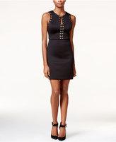 GUESS Lace-Up Grommet Sheath Dress