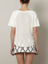 L'Agence Loop-back crochet sweatshirt