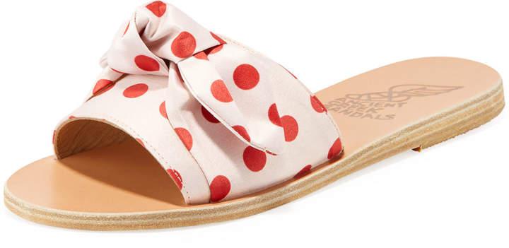 Ancient Greek Sandals Taygete Denim Bow Flat Slide Sandal