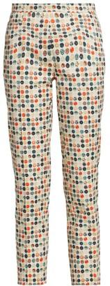Akris Punto Franca Floral Dot Printed Pants