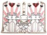 Valentino Garavani — Embellished leather shoulder bag