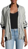 Hudson Nova Varsity Jacket, Gray