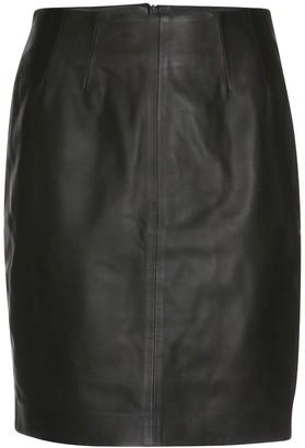 Elle.Sd Leather Skirt