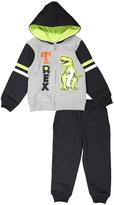 Kids Headquarters Black & Green 'T-Rex' Hoodie & Pants - Infant & Boys