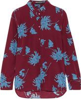Rochas Floral-print silk crepe de chine shirt