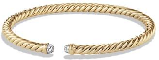 David Yurman Petite Precious Cable Bracelet with Diamonds in Gold