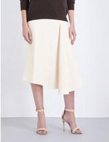 Victoria Beckham Geometric wool-blend skirt