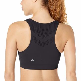 Core 10 Amazon Brand Women's Light Support Seamless Mesh Yoga Bralette Sports Bra