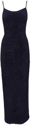 Jacquemus Stretch Velvet Dress W/ Back Detail
