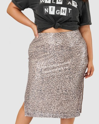 Sunday In The City - Women's Gold Pencil skirts - Gravel Pit Sequin Midi Skirt - Size One Size, 14 at The Iconic