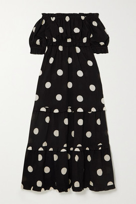 Peony Swimwear Net Sustain Macaroon Organic Cotton And Ecovero-blend Dress - Black