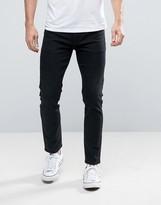 Asos Skinny Ankle Grazer Jeans In Black