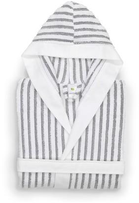 Linum Home Textiles Kid's Terry Stripe Hooded Bathrobe